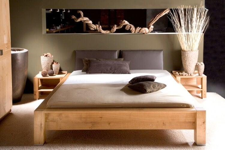 Das Bild zeigt das Modell Capo der Marke Ruhe und Raum, aus dem Sortiment von Bischoff Betten