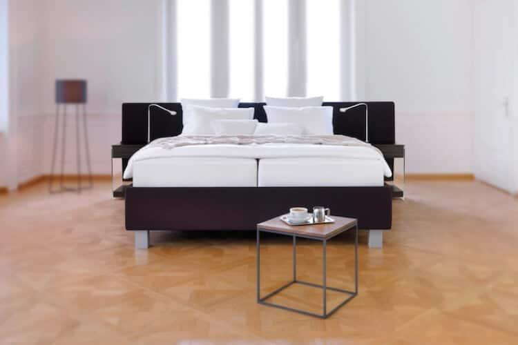Das Bild zeigt das Swissbed Plus Model aus dem Sortiment von Bischoff Betten