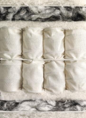 Das Bild zeigt eine Innenansicht einer Matratze von Vispring